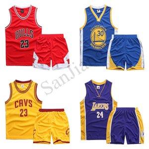 110-165 Çocuk Basket Takımı Kısa Numara Mektupları Erkekler Kızlar Gençler Yaz İki parçalı Eşofman Spor Spor Takımı Suits D22001 yazdır ayarlar