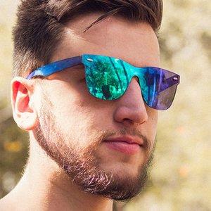 2020 Siamese Sunglasses Men Rice Nails Ladies Sunglasses Luxury Retro Sun Glasses Mirror Shades For Women
