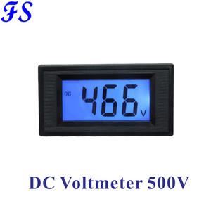 DC500V Voltmeter LCD-Digital-Voltmeter DC-Spannungsmesser Blauer Hintergrundbeleuchteter Halb-Voltmeter Volt Panel Voltage Monitor 76 * 39.5mm