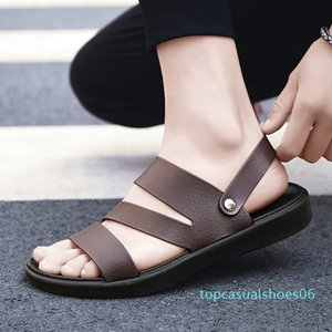 UYOYU Hot Sale New Fashion Summer Leisure Beach Men Shoes High Quality Leather Sandals The Big Yards Men Sandals Size 38-48 t06