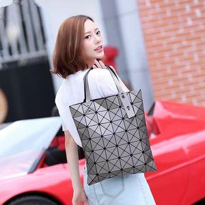 Бао Бао моды сумки Лазерная Геометрия ромб ПВХ голографический мешок лоскутное Женские сумки Сумка BaoBao сложите покупки мешок