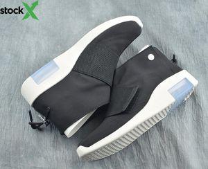 Nueva moda Fear of God Negro Blanco Hombre Zapatos de baloncesto casuales Barato FOG1 Mid Moccasin Deportes Zapatillas de deporte de moda Botas de calidad superior con caja