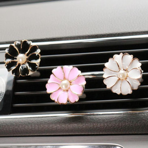 Car Perfume Clip Home Essential Oil Diffuser For Car Outlet Locket Clips Flower Auto Air Freshener Conditioning Vent Clip LX1948