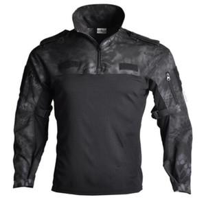 Exército dos EUA Camisetas tático T-shirt manga comprida SWAT Soldados respirável Quick Dry T-shirt Combate Airsoft roupas de homem