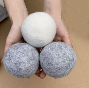 Wool Dryer Balls Premium Reusable Natural Fabric Softener 2.75inch 7cm Static Reduces Helps Dry Clothes in Laundry Quicker SN347