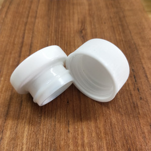 Alta qualidade 5ml girando branco frasco de vidro cosmético recipientes de concentrado para compactação de concentrado de cera frete grátis