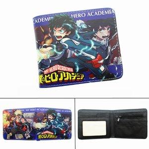 Anime My Hero Academia Leather Wallet Midoriya Izuku Мальчики Девочки молнии монет PU Короткие фото держателя карты Layers Cartoon печати Кошелек