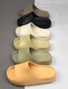 Foam Runner Kanye West Slides 450 Bone White Triple Black Resin Sandals Men Women Male Fashion Loafers Slipper Outdoor Loafers