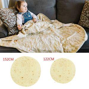 Burritos Blanket, Giant Flour Tortilla Throw Blanket, Novelty Tortilla Blanket for Your Family, Soft and Comfortable Flannel Taco Blanket fo