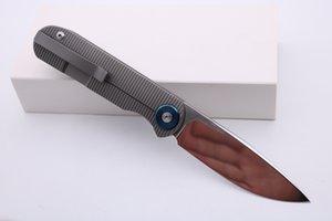"SMKE Bıçaklar Özel Shamwari Ön Flipper Katlama Bıçak 3.5"" M390 Blade 3D Titanyum Sap Survival Taktik Bıçaklar Açık Pocket Knife"