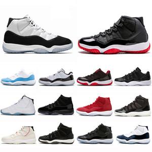 Alta calidad 11s 11 barones Heriress zapatos de baloncesto mujer hombre negro oro formadores de moda atlético deportivo informal zapatillas de deporte transpirable 36-47