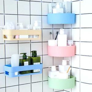 originality fan-shaped household item Corner Shower Shelf kitchenware bathroom shelf Adhesive leave no trace
