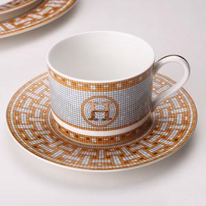 Tazza di caffè e piattino Bone China bistecca Piatto di carne di modello della decorazione della stanza piatti occidentali piatto in ceramica