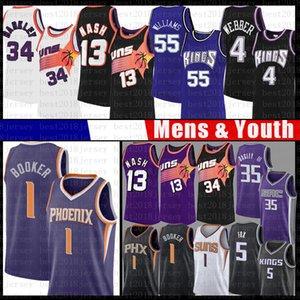 Jason Williams 55 Steve Nash Devin 1 Booker pallacanestro Jersey Chris Charles Barkley Webber DeAaron Marvin Fox Bagley III Sacramentore