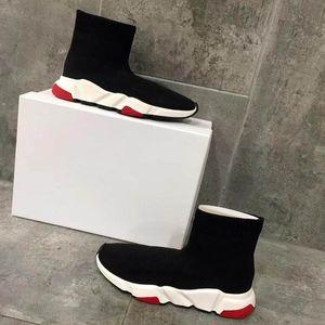 Luxury Designer CasualShoes Speed Black Red Mr Porter Triple Black Flat Fashion Brand Socks Boots Sneaker Speed shoe model r13