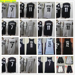 2020 New Basketball 7 Kevin 11 Kyrie Durant Irving Jerseys Stitched 72 Biggie Way Black White City Gray Retro Jersey Short Best Quality Man