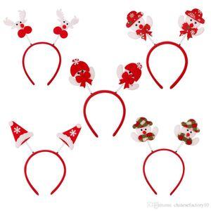 Kinderweihnachtsstirnband mit Schneemann-Elch-Hut Weihnachtsmann-Mädchen-Partei-Kostüm-Performance-Haar-Band-Cartoon-Weihnachtshaarreif