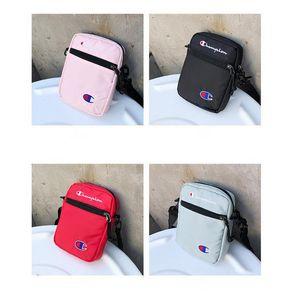 Şampiyonu Tek omuz çantaları Unisex Marka Moda Mini Eğlence Crossbody Çanta Tek Omuz Seyahat Alışveriş Kemer Paketleri bel çanta