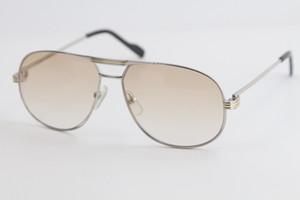 All'ingrosso di modo occhiali da sole classici del metallo piloti metallo della montatura semplice svago taglio superiore qualità degli occhiali da sole maschile e bicchieri telaio oro femminile