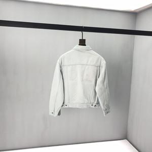 2020 весной и осенью последняя французская новая мода флэш-алмаз письмо печати Denim мужской ткани высокого качества горячего сбывания мужской черный деним
