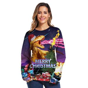 Navidad con capucha 3D divertido sudaderas con capucha de los hombres Streetwear Hip Hop Sudadera con capucha unisex de las mujeres al aire libre sudaderas con capucha 019