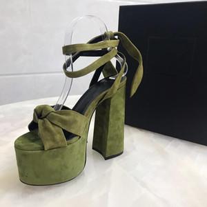 Zapatos de las mujeres originales Pleather Hoja Decorar con punta abierta atractiva 14cm tacones altos de las sandalias de los zapatos para la mujer más tamaño 35-40