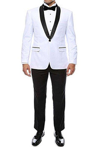 New Cheap And Fine Shawl Lapel Groomsmen One Button Groom Tuxedos Men Suits Wedding Prom Dinner Best Man Blazer(Jacket+Pants+Tie) 220