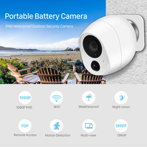 1080P Low Power Mini Battery Camera Outdoor Wifi IP câmera de 2MP PIR Detecção de movimento Smart Home Segurança Wireless CCTV Camera iCSee