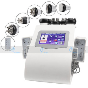 Alta Qualidade 6 em 1 Máquina de Emagrecimento de Cavitação Ultrassônica Rádio Frequência Rosto Levantando Laser Lipo Vácuo RF Pele apertando o corpo do corpo