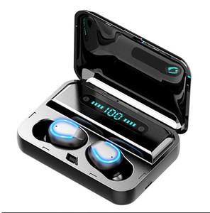 F9-5 V8 TWS Сенсорное управление Bluetooth 5.0 наушники наушники Светодиодный дисплей Беспроводные стерео наушники Спорт гарнитура питания банк зарядная док-станция