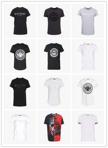 2020 new fashion luxurybalmainparis designerpolo t shirt 100% Casual Material Black White clothes mens womens summer shirts