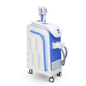 Máquina de depilación láser SHR + Elight IPL con dos asas Máquina de depilación SHR Eliminación de arrugas Rejuvenecimiento de la piel