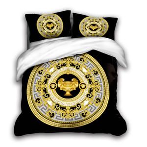 designer cama 3D define king size de luxo Quilt fronha caso queen size duvet cover designer de cama edredons conjuntos v1