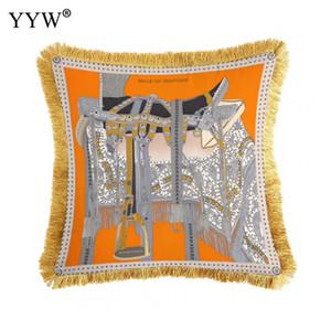 2019 Or Bronzing Taie d'oreiller Luxe Géométrique Coton Taie D'oreiller Chambre Retour Lumbar Throw Couvre Home Decorative