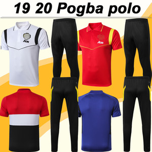 19 20 Pogba Polo Mens futebol camiseta Kit Rashford MATA MARCIAL Lingard MATIC CARRICK azul branco preto Futebol Jerseys de manga curta calças Top