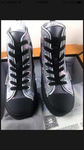 Eğik Erkek Marka B23 Tasarımcı Ayakkabı Bayan Moda Sneakers ck001 olarak 19SS Çiçekler Teknik Tuval B23 B24 Yüksek Top Sneakers Günlük Ayakkabılar