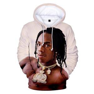 2019 impressão 3D Rapper YNW Melly Hoodies Men Moletons Mulheres Harajuku caráter Idol Preto 3D Hoodies dos homens camisolas casual Coats A591