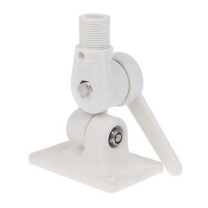 Weiß fester Kunststoff Ratschenhalterung Antennenhalterung Basis Einstellbare Marine Boat