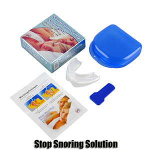 Stop Snoring Solution Anti snore Mouthpiece Soft Silicone ABS Good Night Sleeping Apnea Guard Bruxism Tray Snoring Cessation