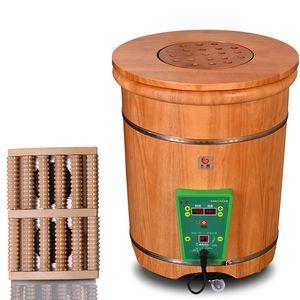 Fumigation Barrel, Foot Soaking Barrel, Wooden Foot Bathtub, Washing Wooden Tub, Knee High And Deep Househo