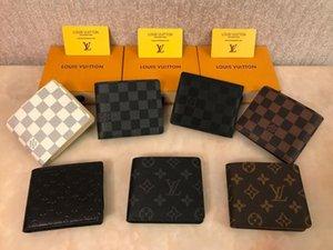 b1 2020 adam çanta Paris ekose tarzı Designe cüzdan ünlü erkekler lüks cüzdan birden kısa küçük bifold cüzdan Cüzdan WRVN sığır derisi mens