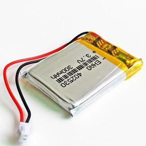 402530 3.7V 300mAh Lithium Polymer LiPo recarregável JST plugue 1,25 milímetros 2pin Para Mp3 headphone DVD telefone celular câmera psp