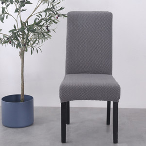 Alta qualidade Elastic Cadeira Coberta de jantar home Chair Seat Cover Knitting Jacquard Weave estiramento Cadeira Coberta Banquet Home Decor Natal