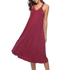 Bayanlar Seksi V Gecelik Kolsuz Lingerie Yaz Robe Faux Kıyafeti Nightgown Banyo İpek Pijama Kadın Modal Boyun Fsgik
