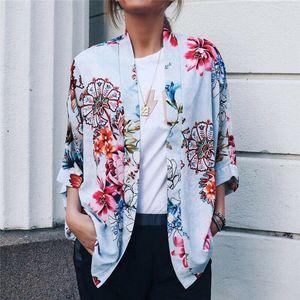 Womens Retro stampa floreale Cardigan Cappotti signore Bomber casuale del cappotto tuta sportiva di stile coreano Jacket femminile chaqueta mujer
