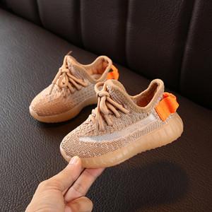 Sapatos crianças Designer Sneakers Hiphop Marca Kanye West para meninos das meninas Adolescentes ativos sapatas Running respirável Eur 22-31 por Atacado