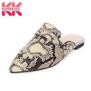KemeKiss Femmes Sandales Chaussures Mode Serpent imprimé léopard Slipper Chaussures Femme Nouveau design Chaussures Toe POINTES 31-48