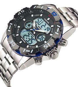 Stryve Mode Hommes Montres Quartz numérique Hommes multifonctions Waterproof lumineux Montre Homme Horloge Mannen 8011 Horloges