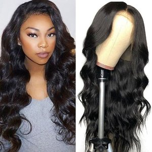 13x4 Lace Frontal Human Hair Wig For Black Women Pre Plucked Brazilian Body Wave Lace Frontal Wig With Baby Hair Remy Wigs
