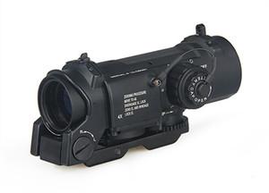 Tactique Dr 4X Loupe fixe Loupe à double rôle Scope de chasse au fusil optique 4x32 Mil-points lumineux FIT 21MM Weaver Picatinny Rail CL1-0058